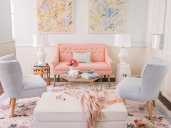 Spring Pastel Living Room Aesthetic